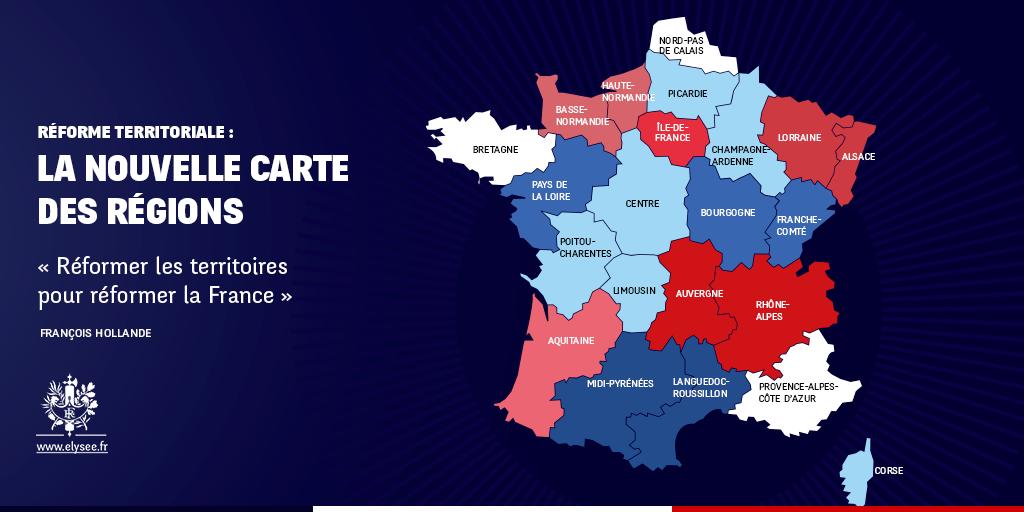 Carte nouvelles régions de France