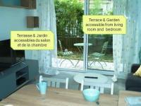 Appart Hotel Asnières sur Seine Havre de paix - F2 cosy # terrasse et jardin # proche parc et promenade paysagee