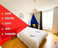 Appart Hotel Bâgé la Ville Mâcon - Gare - Centre Ville - Parking - Cosy - Wifi