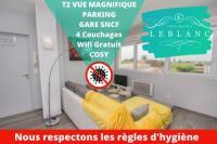 Appart Hotel Bâgé la Ville T2 4 personnes Conservatoire,Ctr Ville 1 place parking Gratuit