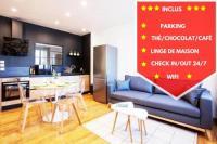 Appart Hotel Bâgé la Ville Legend - Le Saint Laurent - Parking - Wifi - 24/7 - cosy
