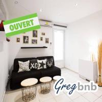 Appart Hotel Toulon GregBnb - Studio Cosy - Clim + WiFi/ 15min Gare
