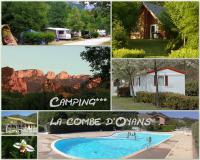 Terrain de Camping Valence Camping La Combe D'Oyans
