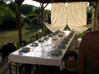 Camping Le Champ De Guiral-la-table-du-soir
