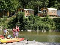 Terrain de Camping Midi Pyrénées Huttopia Millau