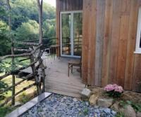 gite Brassac Petit chalet tout en bois Tranquille et simple