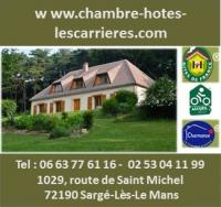 Chambre d'Hôtes Le Mans CHAMBRES D'HOTES LES CARRIERES