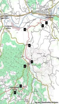 Idée de Sortie Mansac Dans les pas des Hommes de Lascaux Etape1: Terrasson-St Amand de Coly