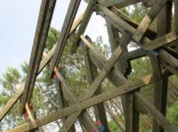 Idée de Sortie Geloux La Forêt d'Art Contemporain : le Lit Transcendental, oeuvre n00