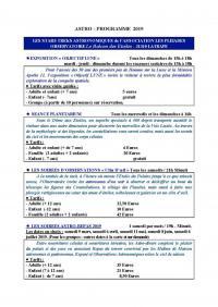 Idée de Sortie Lézat sur Lèze BALCON DES ETOILES - ASSOCIATION LES PLEIADES