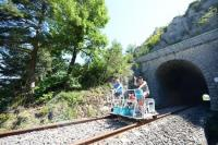 Idée de Sortie Lapanouse de Cernon Sur les Rails du Larzac: train touristique et vélorail