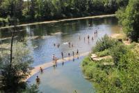 Idée de Sortie Albas Baignade dans la rivière Lot à Castelfranc