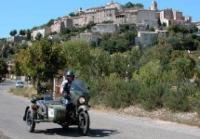 Visites en moto et side car Saint Rémy de Provence