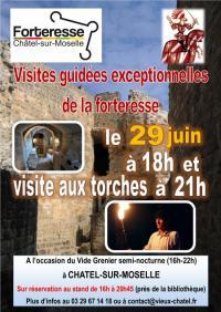 Idée de Sortie Thaon les Vosges VISITES EXCEPTIONNELLES DE LA FORTERESSE À 18H ET AUX TORCHES À 21H