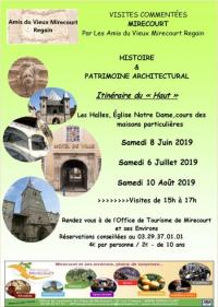 Idée de Sortie Poussay BALADE CULTURELLE DE LA VILLE ANCIENNE DE MIRECOURT ET DE SON HISTOIRE