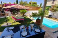 gite Montauroux Villa Moderne,Centre,Piscine,5min Mer,Clim,Parking
