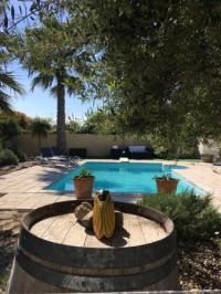 gite Port la Nouvelle Villa avec piscine chauffée , sécurisée et privée.