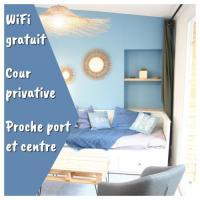 gite Langueux Superbe Maison 4 personnes entre le port et le centre, COUR PRIVATIVE, WiFi gratuit