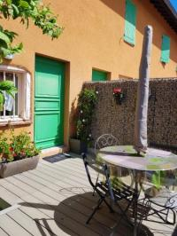 gite Montracol House with 2 bedrooms in Vonnas with wonderful city view furnished terrace and WiFi