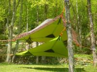 Terrain de Camping Le Bosc dtente sky lodge