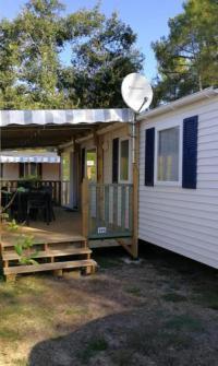 Terrain de Camping Herm Mobil home Location en Mobil home au Camping Les Dunes de Contis