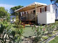 Terrain de Camping Languedoc Roussillon Mobil Home Résidentiel 6/8 personnes en Village Vacances à Canet Plage