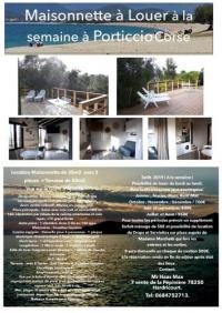 Gîte Corse Gîte Petite Maison de Vacances à Porticcio