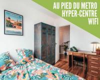 Chambre d'Hôtes Toulouse HYPERCENTRE-METRO-COSY - chambre chez l'habitant- homestay