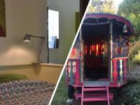 Terrain de Camping Fontvieille Roulotte chauffée + Studio