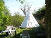 Terrain de Camping Rhône Alpes Tipi La Bodib