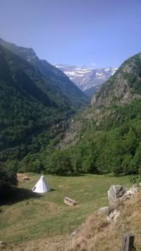 Terrain de Camping Midi Pyrénées Tipis nature