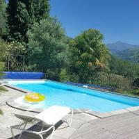 Gîte Hautes Pyrénées Gîte Villa with 3 bedrooms in AspinenLavedan with wonderful mountain view private pool enclosed garden 38 km from the slopes