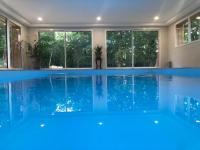 gite Saint Mesmin Maison piscine intérieur, salle cinéma