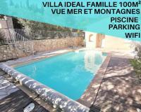 gite Valbonne Villa Idéal Famille,Vue Mer et montagne,Calme,Wifi,Parking,Piscine