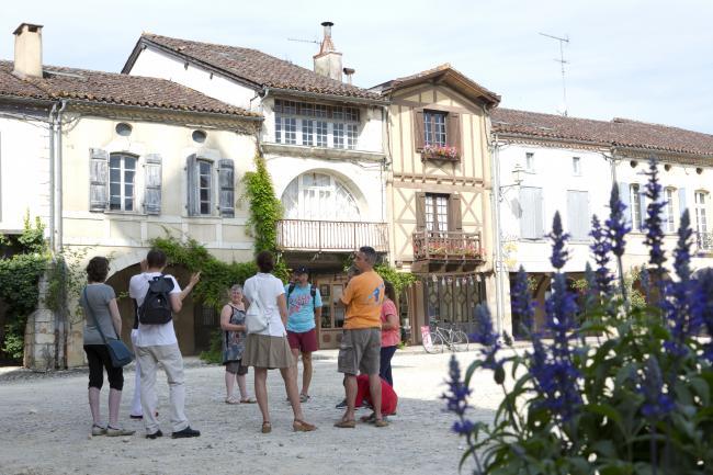 Visite commentée de la Bastide de Labastide d'Armagnac-Credit-OTLA