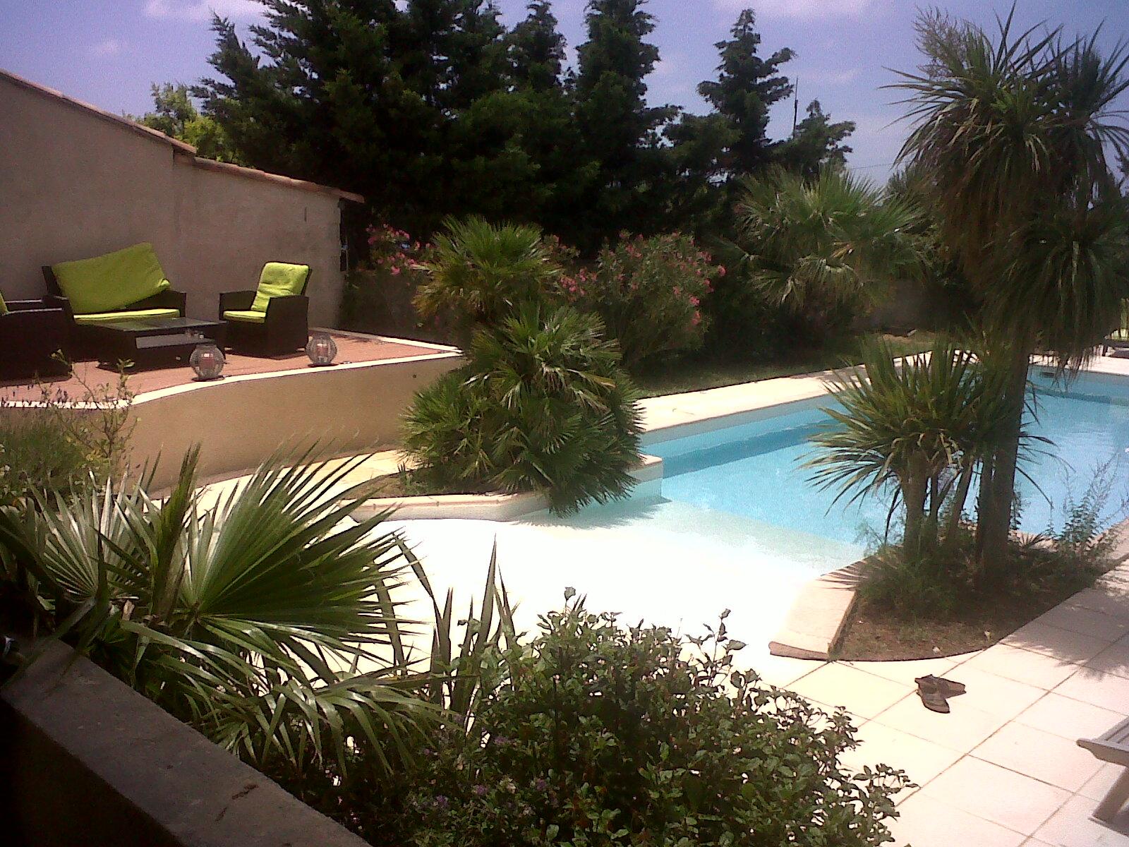 LA MIDINETTE - N° 1443-piscine-avec-plage-privative-a-la-location