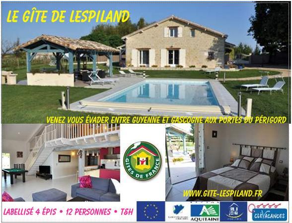 Meublé de Tourisme Lespiland-Le-Gite-de-Lespiland-Lot-et-Garonne